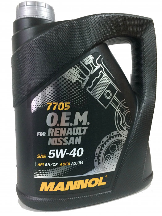 Масло MANNOL 7705 O.E.M. for Renault Nissan  5w40 4л